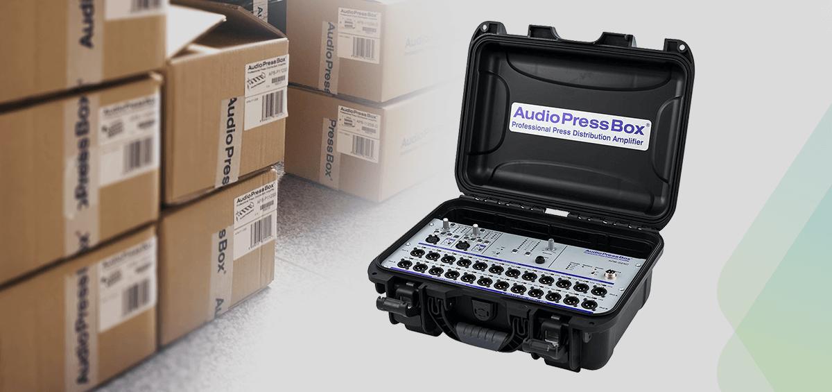 AudioPressBox, amplificatoare profesionale pentru distributie audio, dedicate evenimentelor de presa
