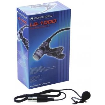 OMNITRONIC LS-1000 XLR Lavalier Mic