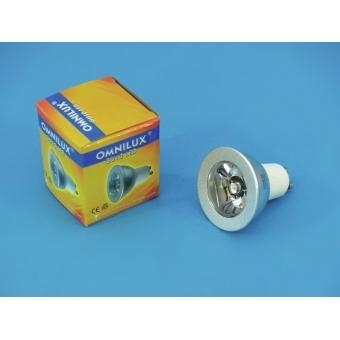 OMNILUX GU-10 230V 1W LED yellow C