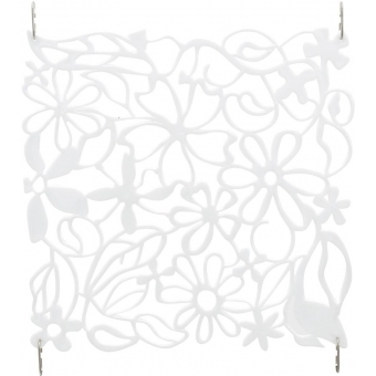 EUROPALMS Room Divider Flower white 4x
