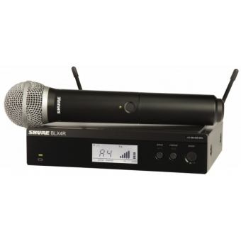 Sistem Wireless (Rack-Mount) SHURE - Microfon Vocal BLX24R/PG58