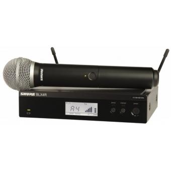 Sistem Wireless (Rack-Mount) SHURE - Microfon Vocal BLX24R/PG58