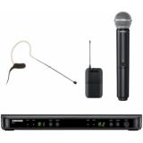 Sistem Wireless Combo SHURE - Microfon+Earset BLX1288/SM58/MX153