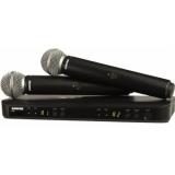 Sistem Wireless Dual SHURE - Microfoane Vocale BLX288/SM58