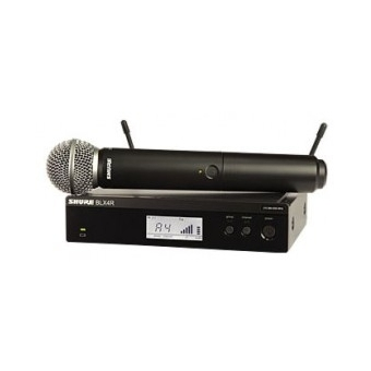 Sistem Wireless Rack-Mount SHURE - Microfon Vocal BLX24R/SM58