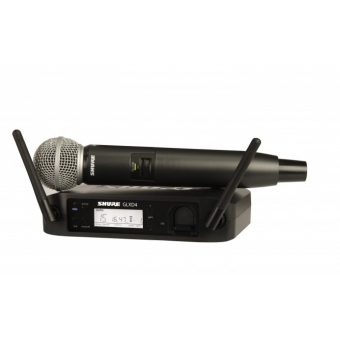 Sistem Wireless SHURE - Microfon Vocal GLXD24/SM58
