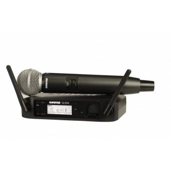 Sistem Wireless SHURE - Microfon Vocal GLXD24/SM58