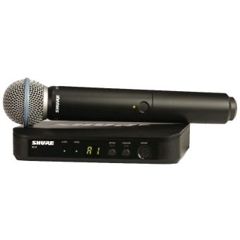 Sistem Wireless SHURE - Microfon Vocal BLX24/Beta58