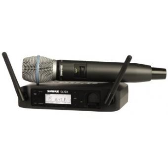 Sistem Wireless SHURE -Microfon Vocal GLXD24/B87A