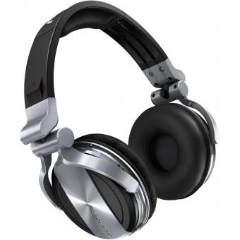 Pioneer HDJ 1500 Silver - Professional DJ Headphones with Groundbreaking Soundproofing Technology