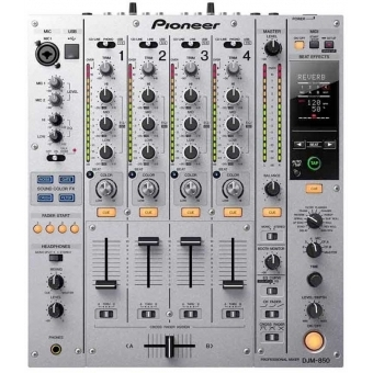 Pioneer DJM 850 Silver - 4-Channel High-End Digital Mixer #2