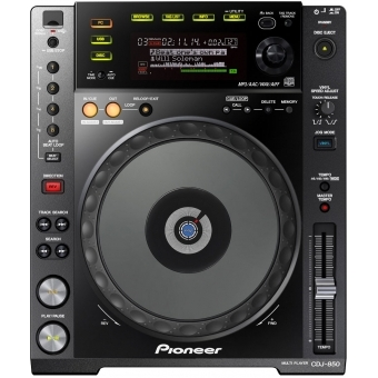 Pioneer CDJ 850 Black - Digital Deck (Full Scratch Jog Wheel + Rekordbox Support)