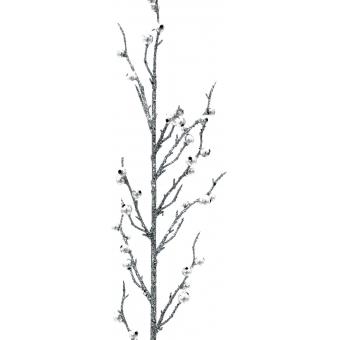 EUROPALMS Berry spray glitter silver 85cm 3x #3