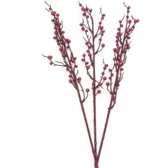EUROPALMS Berry spray glitter red 85cm 3x
