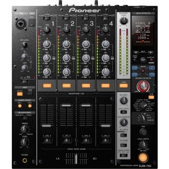 Pioneer DJM-750-K 4 Channel Mid-Range Digital Mixer (Black)