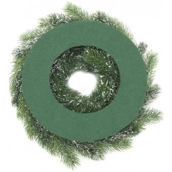 EUROPALMS Fir wreath, snowy, PE, 45cm #2