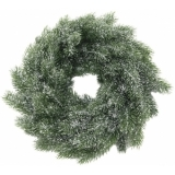 EUROPALMS Fir wreath, snowy, PE, 45cm
