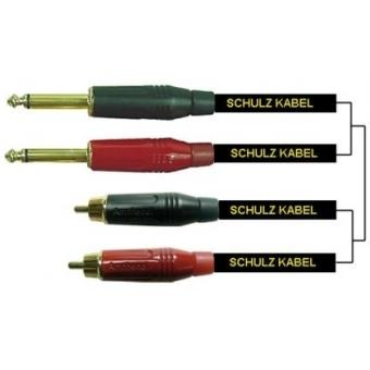 2 RCA-plugs to 2x 6,3 mm plugs 2 m ADPS 2