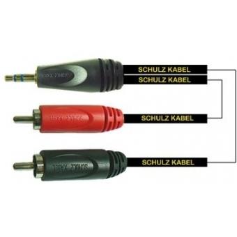 Miniplugs cable 1 m RCA 30