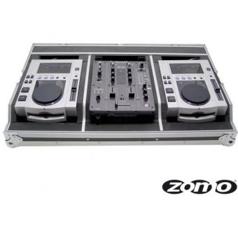 Zomo Flightcase Set 100 for 2x CDJ-100 + 1x DJM-400/DXM-06