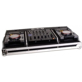 Zomo Flightcase Set 400 MK2 for 2x CDJ-400 x 1x 12