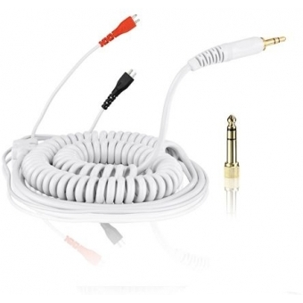 Spiral Cable DeLuxe for Sennheiser Headphone HD 25 3,5m white #2
