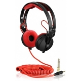 Spiral Cord DeLuxe for Sennheiser Headphone HD 25 3,5m red