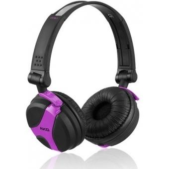 Earpad Set black for AKG K 518 DJ and K 518 LE Fuchsia/Gree #2