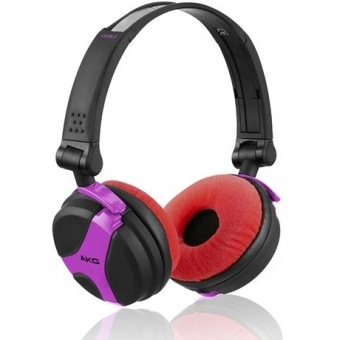 Earpad Set Velour for AKG K 518 DJ and K 518 LE Fuchsia/Gre #10