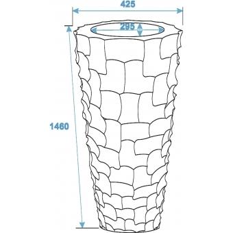 EUROPALMS Design pot SPATTLE-140, white #3