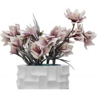 EUROPALMS Design pot SPATTLE-140, white #9