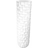 EUROPALMS Design pot SPATTLE-140, white