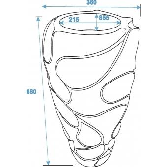 EUROPALMS Design pot BUBBLE-90, white #2