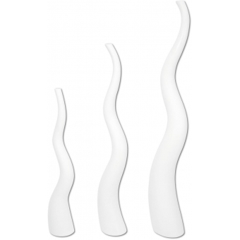 EUROPALMS Design vase WAVE-150, white #2