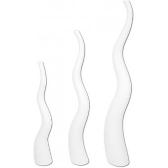 EUROPALMS Design vase WAVE-125, white #2