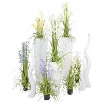 EUROPALMS Design vase WAVE-125, white #4