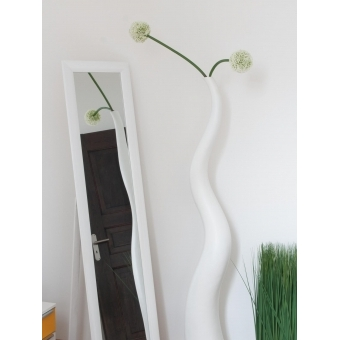 EUROPALMS Design vase WAVE-125, white #5