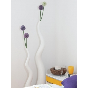 EUROPALMS Design vase WAVE-125, white #7