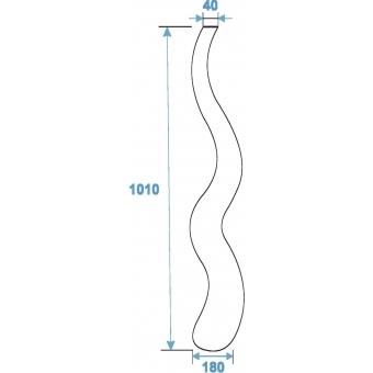 EUROPALMS Design vase WAVE-100, white #3