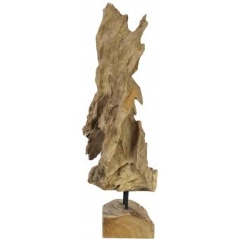 EUROPALMS Natural wood sculpture 60cm #2