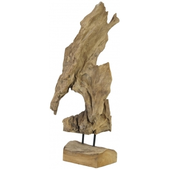 EUROPALMS Natural wood sculpture 60cm #3