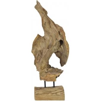 EUROPALMS Natural wood sculpture 60cm #4