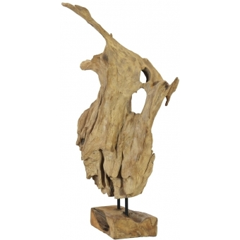 EUROPALMS Natural wood sculpture 60cm #6