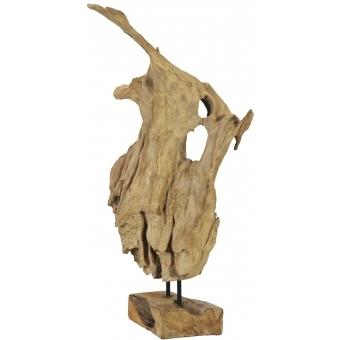 EUROPALMS Natural wood sculpture 60cm #6
