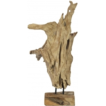 EUROPALMS Natural wood sculpture 60cm #7
