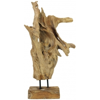 EUROPALMS Natural wood sculpture 60cm #8