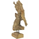 EUROPALMS Natural wood sculpture 60cm