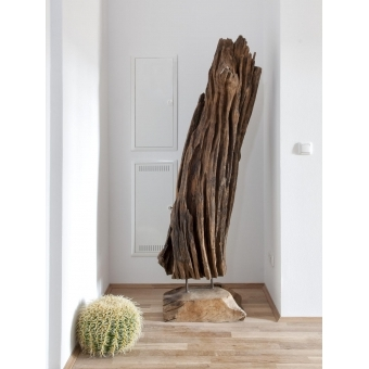 EUROPALMS Natural wood sculpture 160cm #24