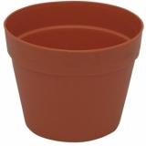 EUROPALMS Flowerpot plastic, red, 17cm