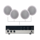 CIELO 40 - Ceiling Speaker Set +/-40m² COM3 + 4X CS55 - BLACK VERSION